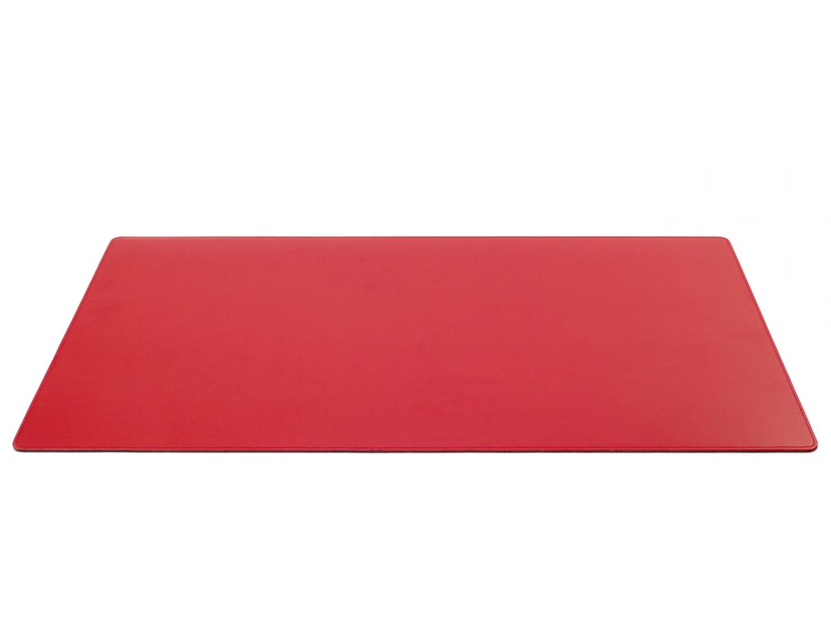 Grand sous main de bureau en cuir rouge 80 cm par 40 cm for Bureau 40 cm de large
