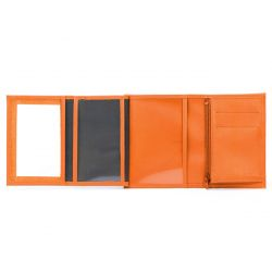 Portefeuille en cuir - orange - 466