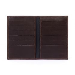 Porte-cartes en cuir marron - 120