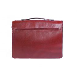 Grand cartable Dominique cuir rouge