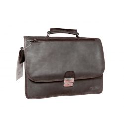 Cartable en cuir marron 248
