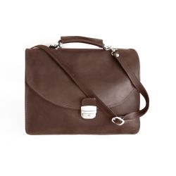 Cartable Cuir Nubuck Marron - 238