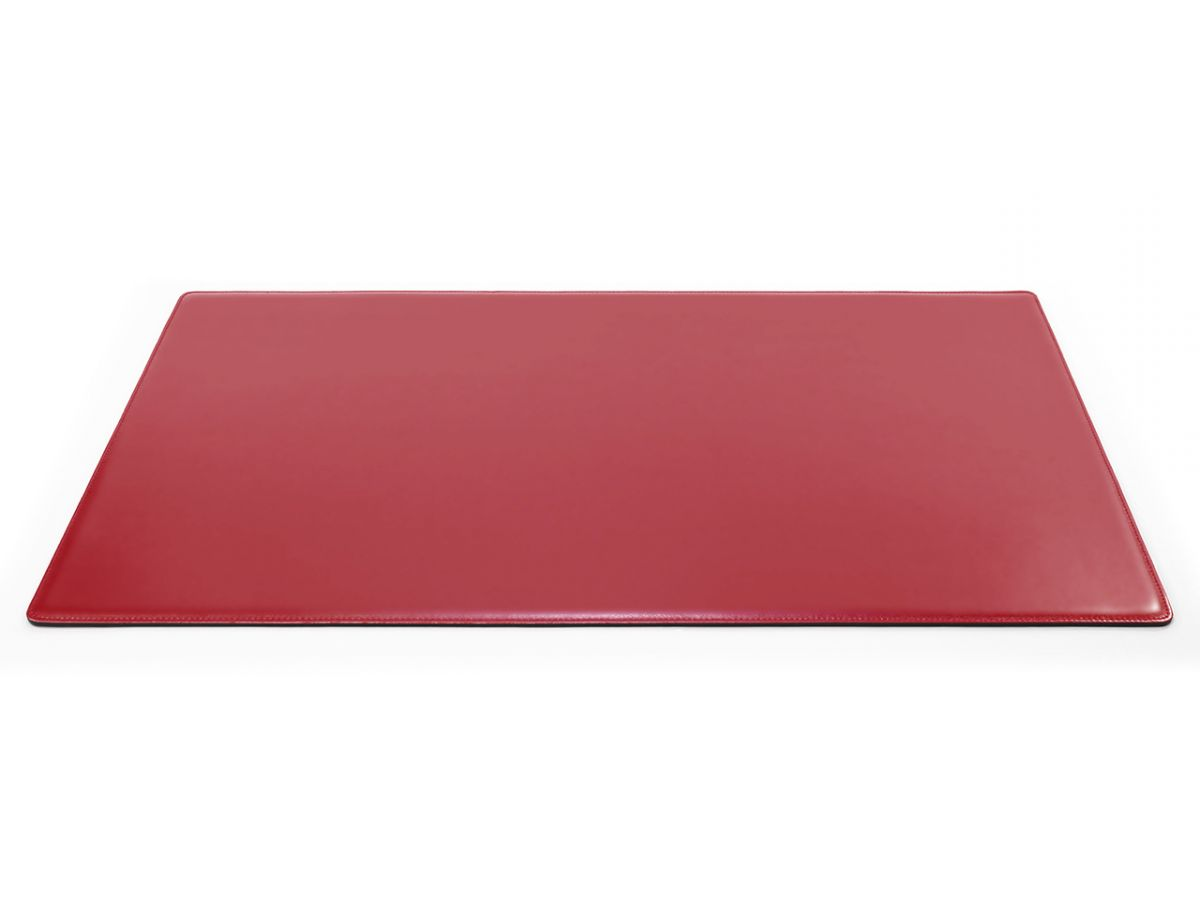 Grand sous main de bureau en cuir rouge 80 cm par 50 cm for Bureau 80 cm de large