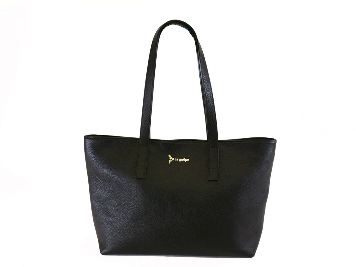 Noir France Clement In Sac Cuir Cabas Modele Made PZTXukiO