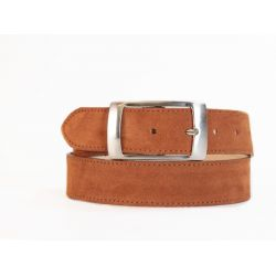 Ceinture en cuir velours marron gold - 2028