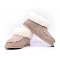 Chaussons sable semelle Cuir