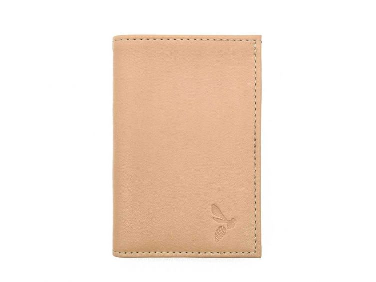 "Porte-cartes compact ""Luxe"" tout cuir nude - PM-038-01"