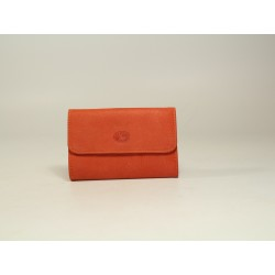 Porte-Monnaie Cuir nubuck orange